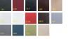 Väntsoffa Icon + Pall + Bord med Ljus  Made in Europe färgval - Väntsoffa Icon + Pall FÄRGKARTA
