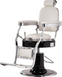 Barber Chair Classic Lux svart eller vit Handmade