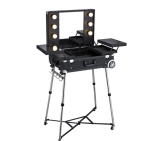 Mobilsalong Make Up board Black Glamour Kosmetikbord