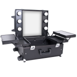 Mobile Minisalon Arbetsväska Black Cube Make Up board Kosmetikbord
