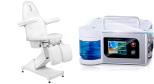 Paketpris Pedi - Fotvårdstol Free i vit (elektriska motor) + Slipapparat Pro med Sprayteknik