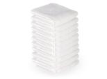 10 stck. Handdukar microfiber färgval vit, blå, svart