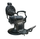 Barber Chair Wayne Retro svart