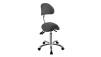 Arbetsstol NOBLE Pall Sadelpall med ryggstöd vit, svart eller grå - Arbetstol Noble i grå