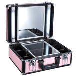 Mobil Arbetsväska Gamour pink med Spegel & Beslysning