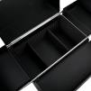Arbetstrolley Salon Black med hjul & handtag