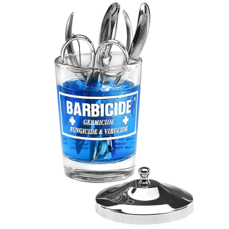 BARBICIDE glass container for disinfection 120ml - BARBICIDE glass container 120ml