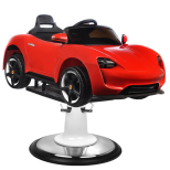 Barnklippstol Porsche röd