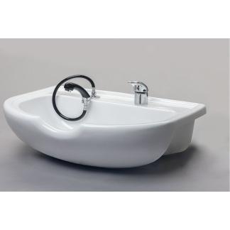 HNC Inbyggd Framåt Keramikhandfat vit eller svart - HNC  Inbyggd Framåt Keramikhandfat vit