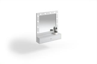 Arbetsplats Make Up Spegel Princess med LED  färgval Made in Europe - Arbetsplats Make Up Spegel Princess med LED