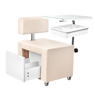 Pedikyrstol med låda - Pedikyrstol med låda