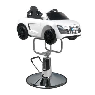 Barnfrisörstol Audi i vit - Barnfrisörstol Audi i vit