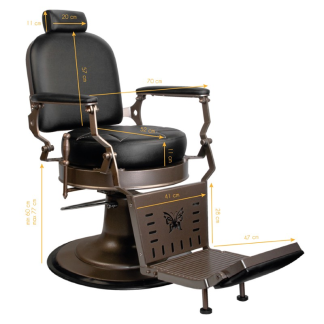 Barber Chair Black STAR - Barber Chair Black STAR