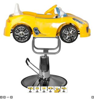Barnklippstol Porsche yellow - Barnklippstol Porsche yellow