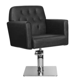 Frisörstol BELLE i svart - Frisörstol BELLE i svart