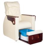FotSpa fotvårdstol RINO-beige med utdragbar botten för fotbad och benstöd & ryggmassagefunktion