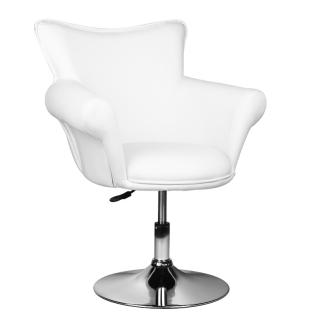 Frisörstol & sminkpall & väntsstol GRACE 360 grader roterbar i VITT - Frisörstol & sminkpall & väntsstol GRACE 360 grader roterbar