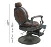 Barber Chair Wayne Retro brun