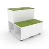MOVE Mobilt och modulärt säte med förvaring i grön eller röd - MOVE Mobilt  i GRÖN