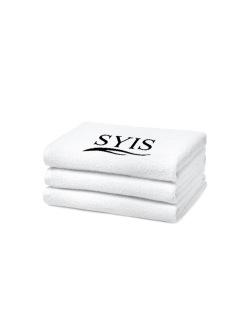 2 x SYIS frottéhandduk med 50x90 - vit - 2 x SYIS frottéhandduk med 50x90 - vit