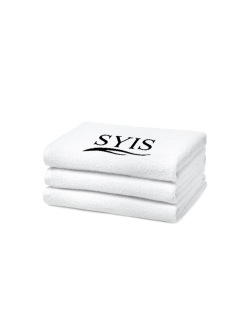 2 x SYIS handduk 70x140 - vit - 2  x SYIS handduk 70x140 - vit