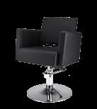 Frisörstol Premium R svart
