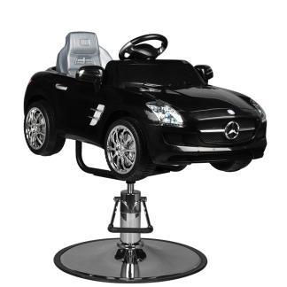 Barnklippstol Mercedes Roadster svart - Barnklippstol Mercedes Roadster svart