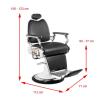 Barber Chair TOM II i svart eller brun