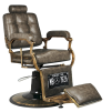 Barber Chair Boss brun & cognac - Barber Chair Boss LJUS brun I