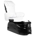 FotSPA pedikyrstol DINA med massagefunktioner & dräneringspump svart/vit