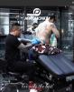 Tattoostol Design svart Elektrisk höjdjustering med fotpedal