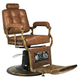 Barber Chair Boss brun & cognac
