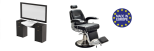 Paketpreis Arbeitsplats RETRO & Barber Chair JAMES Made in Europe