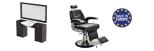 Paketpreis Arbeitsplats RETRO & Barber Chair JAMES Made in Europe