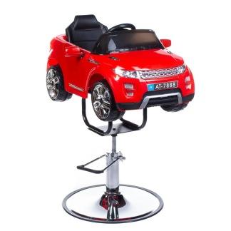 Barnklippstol SUV röd eller vit med Multimedia - Barnklippstol SUV RÖD