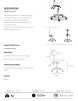 Arbetsstol GALA med Speedhjul Säteshöjden: 55-75cm