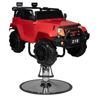Barnklippstol SUV röd - Barnklippstol SUV röd