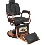 Barber Chair Frisörstol Used look med kopparfärgade detaljer