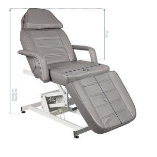 Behandlingsstol med 1 motor i grå - Behandlingsstol med 1 motor i grå