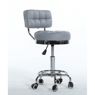 Arbetsstol RIFFEL II grå höjden: 38- 56cm - Arbetsstol RIFFEL II grå höjden: 38- 56cm
