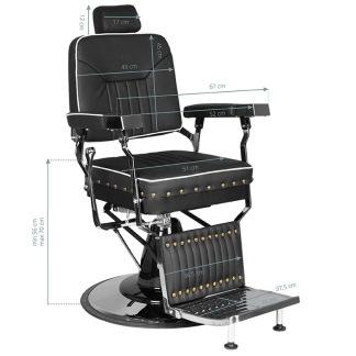 Barber Chair COLT med nitar Höjd: 56-70cm - Barber Chair COLT med nitar