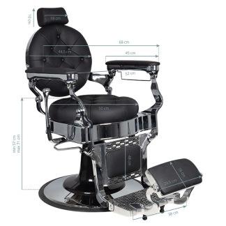 Barber Chair CHOPPER Höjd: 57-71cm - Barber Chair CHOPPER Höjd: 57-71cm