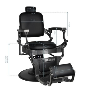 Barber Chair Hammare Svart Herrklippstol - Barber Chair Hammare Svart