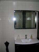 Kakling och inredning badrum Ramsjö