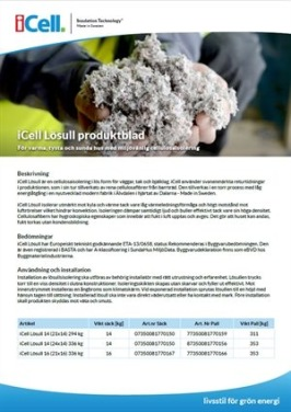 iCell Produktblad