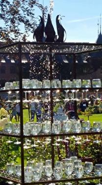 """Fontänen """"Överflödet"""" som skapades till den stora trädgårdsfesten på Sofiero 2016. Fontänen blev mycket uppmärksammad."""