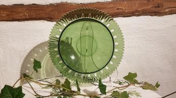 Grön glasskål -