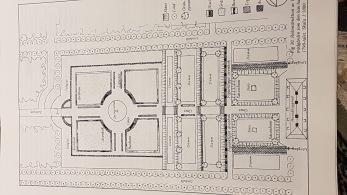 Skillinge säteri, rekonstruktion över trädgården som den kan ha sett ut år 1749
