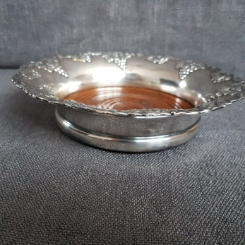 Coaster, Danish silver plated -