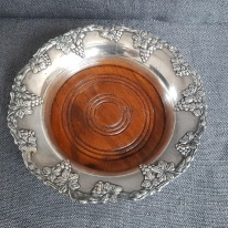 Coaster, Danish silver plated